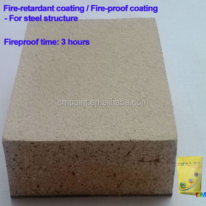 Fire-retardant paint- Waterproof anti-rust non flame steel structure fireproof paint