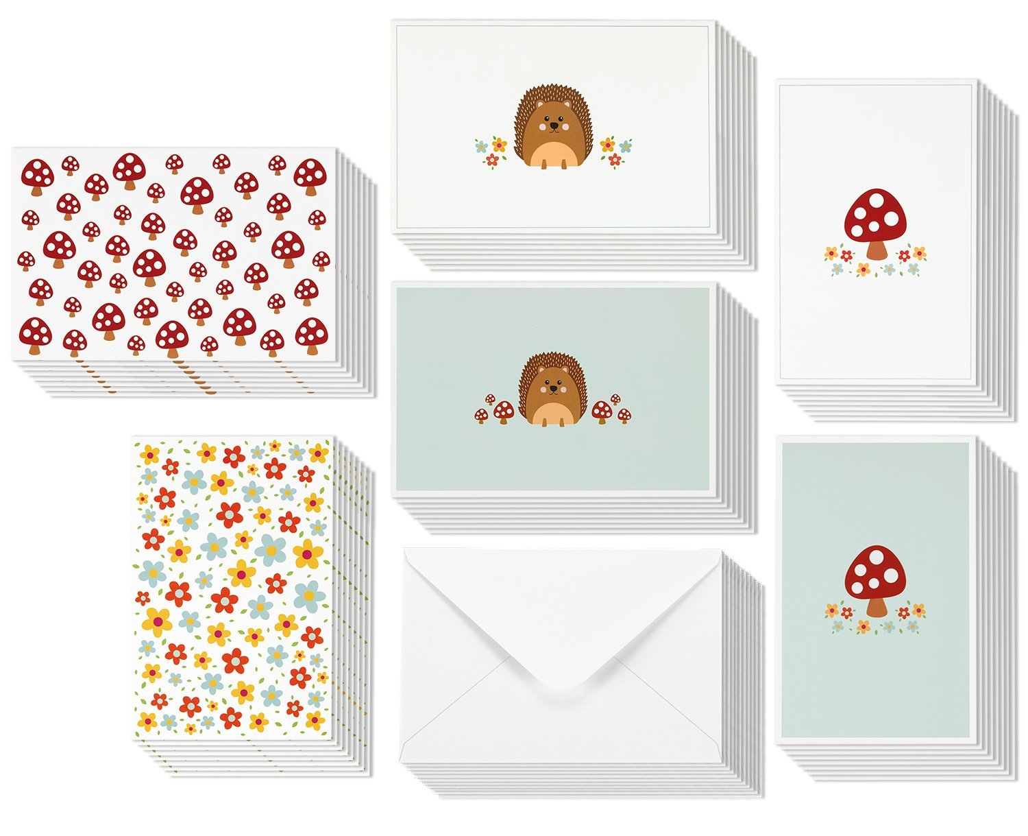 Cheap blank greeting cards find blank greeting cards deals on line all occasion greeting cards blank inside 6 cute illustrations of hedgehogs mushrooms kristyandbryce Image collections