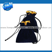 Custom Gifts Packing Drawstring Bag Black Velvet Jewelry Pouch For Ladies