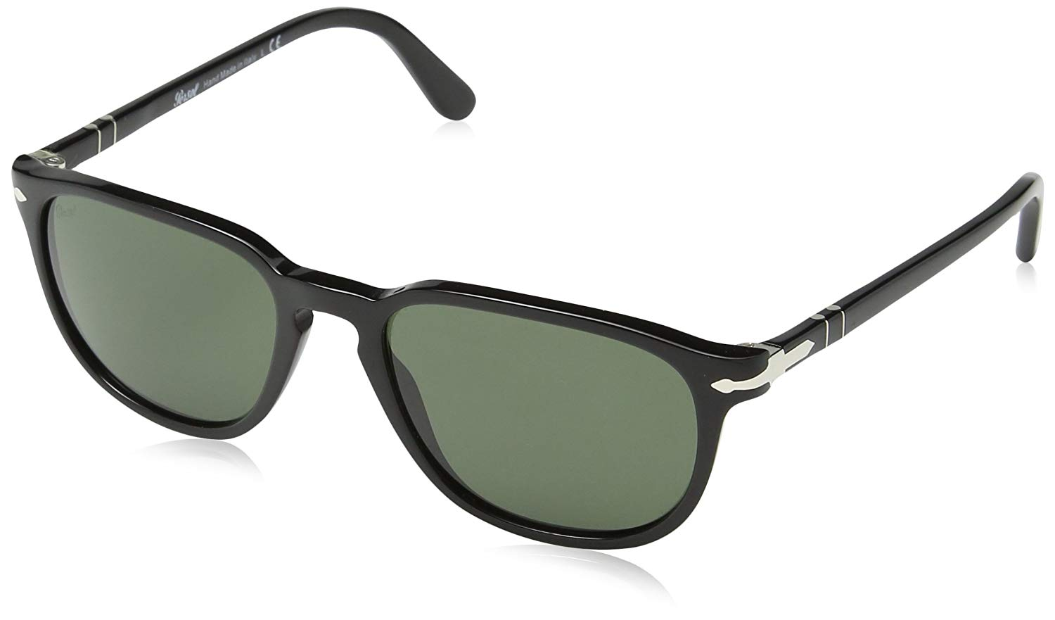 Get Quotations · Persol PO 3019s 52 MM Black Frame crystal green Lens  Sunglasses 1ce94cde2a24