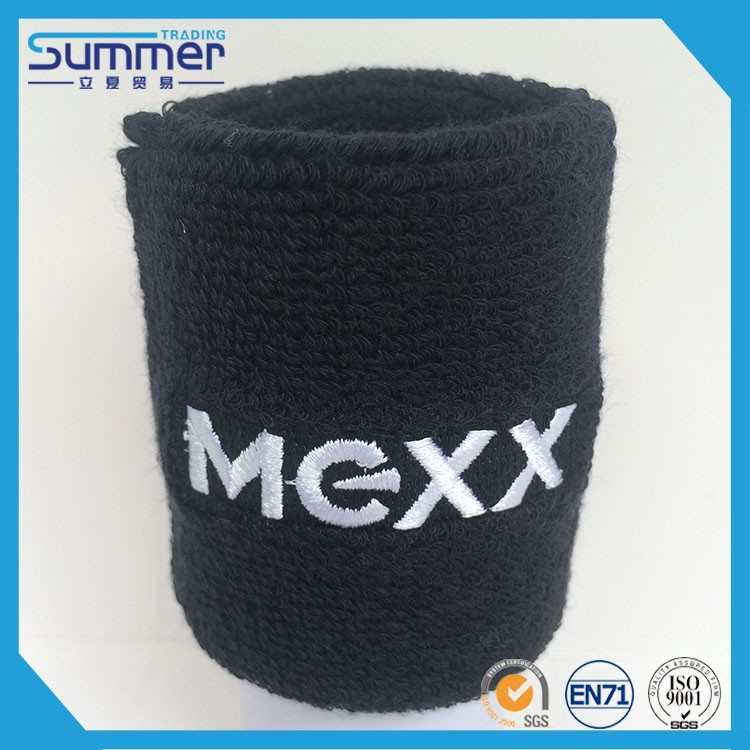 Embroidery cotton sport wrist sweatband