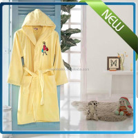 100% cotton Terry cloth cotton childrens cheap bathrobe for kids