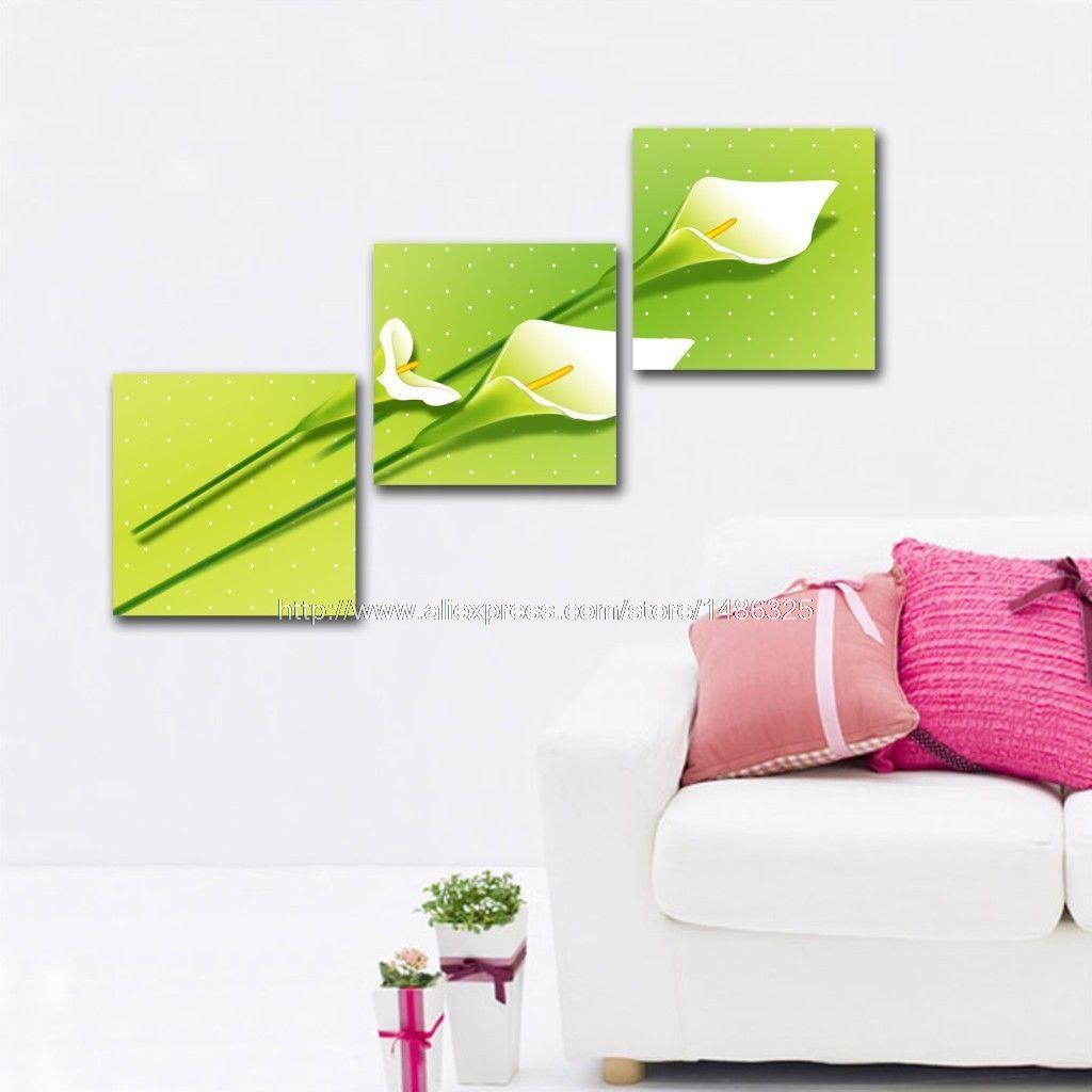 Modern Flower On Canvas Art Oil Painting Dining Room Paintings Wall Decor Landscape Canvas Abstract Bed Room Background H