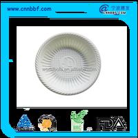 Disposable biodegradable plastic cornstarch tableware white