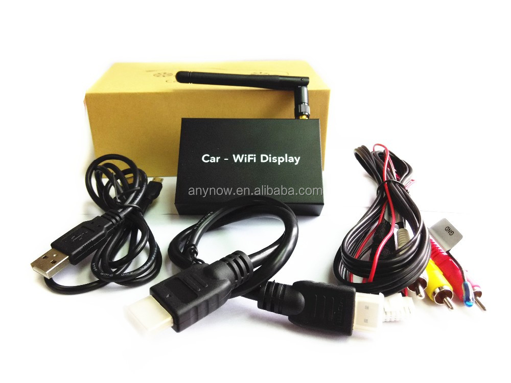 Supporting the mobile phone or tablet PC agreement with Miracast Airplay DLNA car wireless connection wifi display