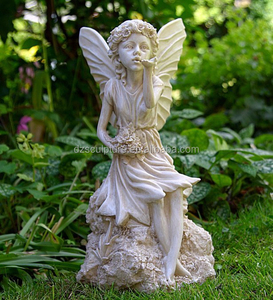 Lovely cherub fiberglass life size fairy figurines with butterfly wings