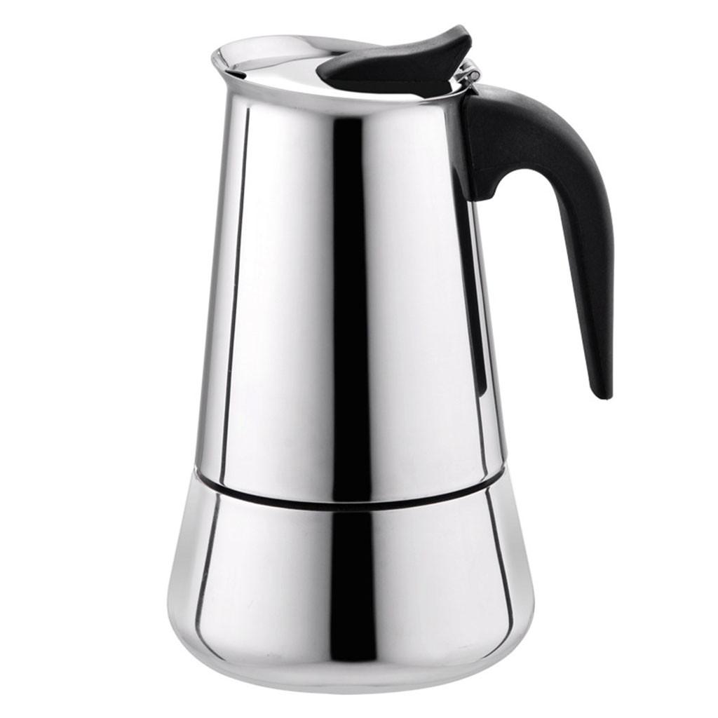 Нержавеющая сталь широкий нижний домашний кофейник Moka Эспрессо чайник Перколятор плита бариста кофе Нержавеющая сталь Французский пресс(Китай)