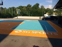 inflatable and portable tennis court flooring and hockey flooring