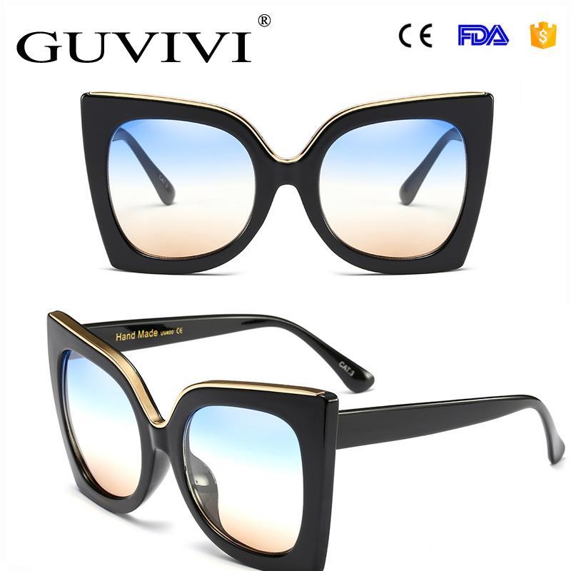 7318e1c280954 GUVIVI óculos moda simples óculos de sol óculos escuros de Grife autênticos  óculos de sol Das