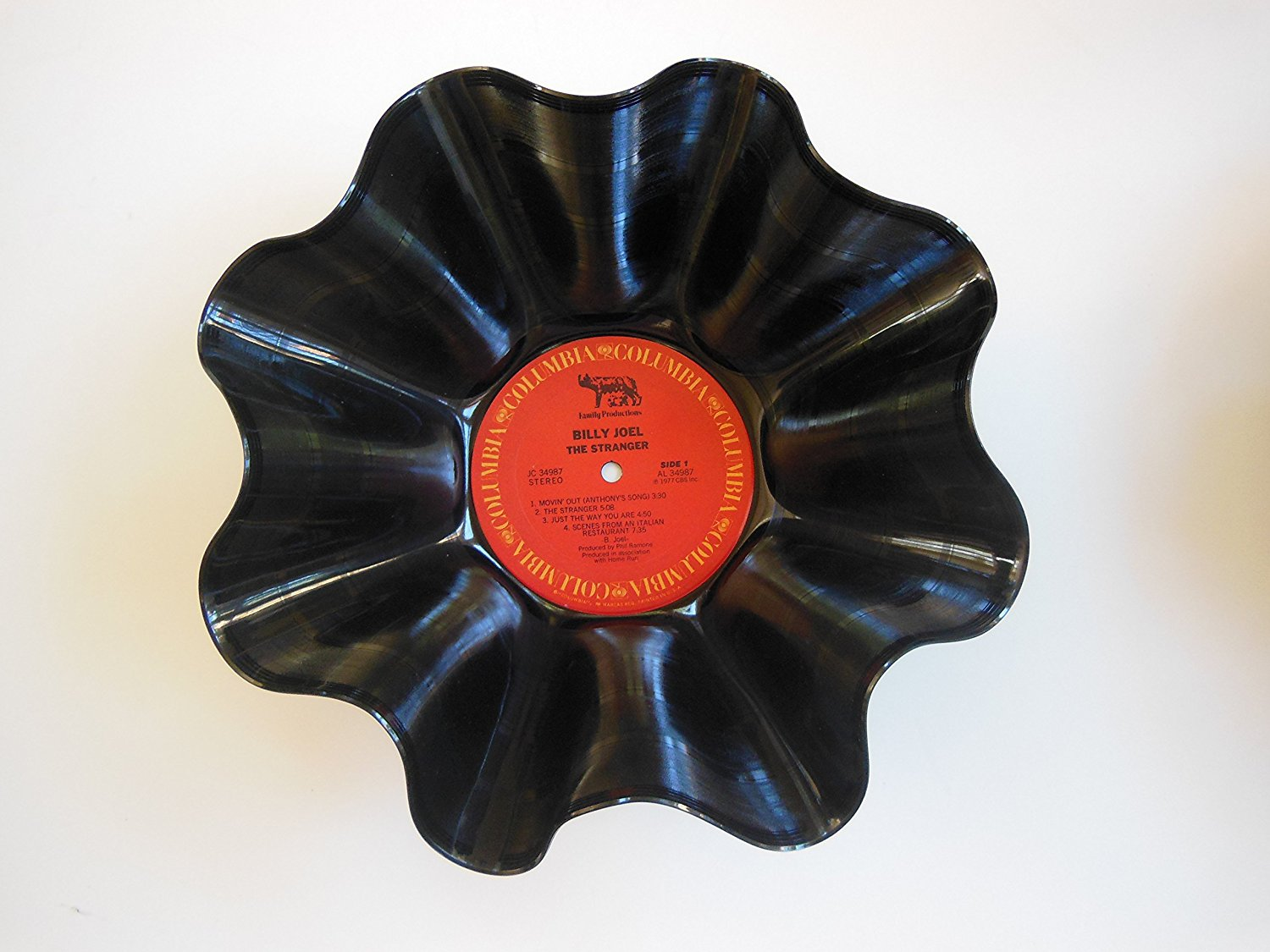 Vinyl Record Bowl Hand Made using a Billy Joel album