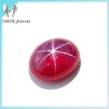 Lab created star sapphire cabochon