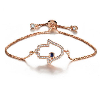 Fashion Gold Charm Hamsa Hand Bracelets For Women Wholesale NS801100