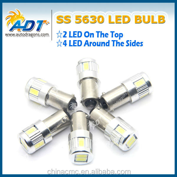 2014 brand new SS 5630 auto led bulbs, super bright led lights non polarity T10 Ba9s 6leds for bmw for audi for benz for vw