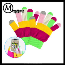 Morewin gloves Amazon supplier custom funky colorful touch screen gloves