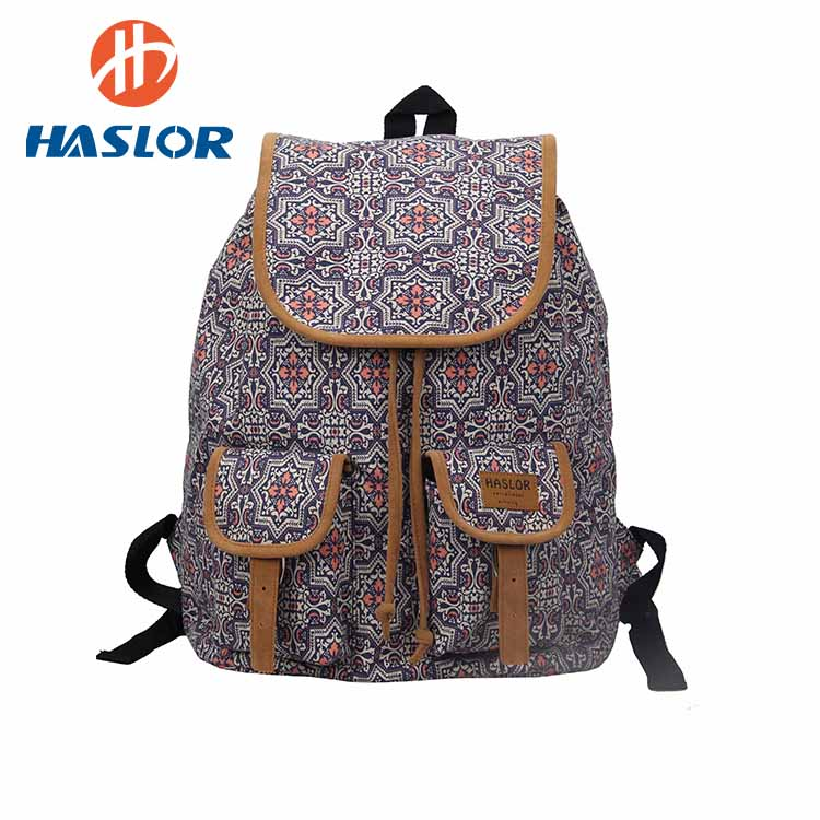 Fashionable Creative School Bag Canvas Backpack For Teenager Girls