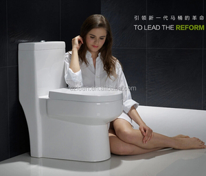 Popular soft touch one piece water-saving wc toilet size