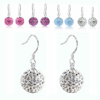Candy Color Rhinestone Bubble Crystal Ball Stud Multi Earrings
