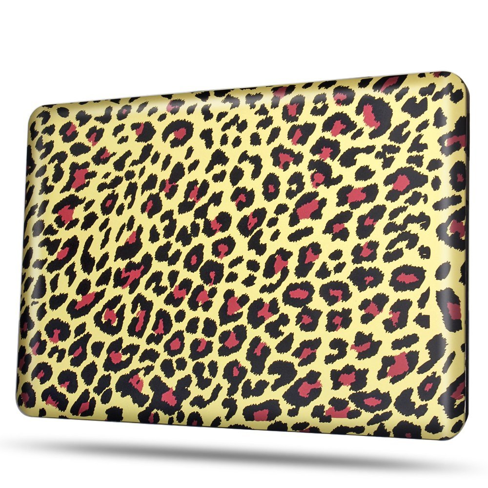 TNP MacBook Pro 15 Case [Leopard Brown Pattern] - Soft-Touch Plastic Matte Hard Shell Protective Case Cover Skin for Apple MacBook Pro 15 Inch A1286