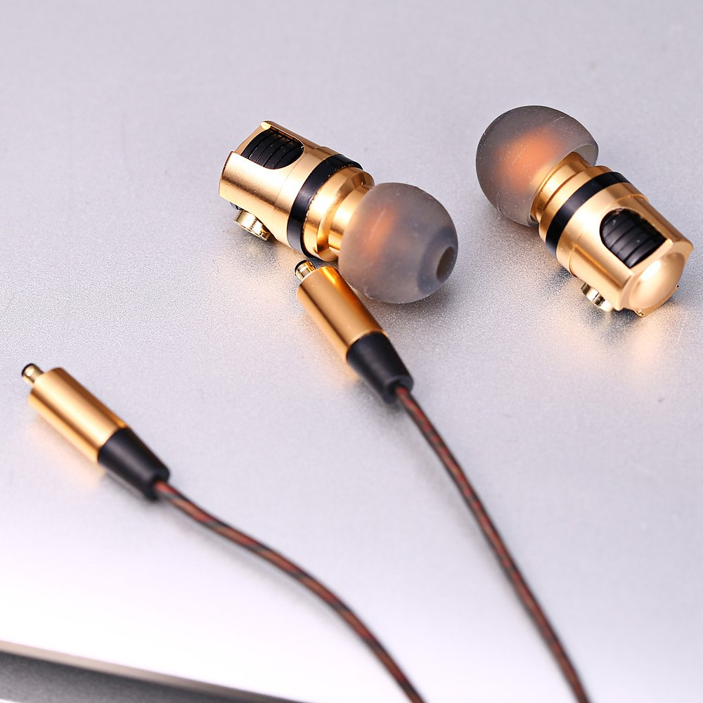 X46M Detachable HiFi In-ear Earphones with Gold Plated Plug MIC Support Plug and Play for Mobile Phone
