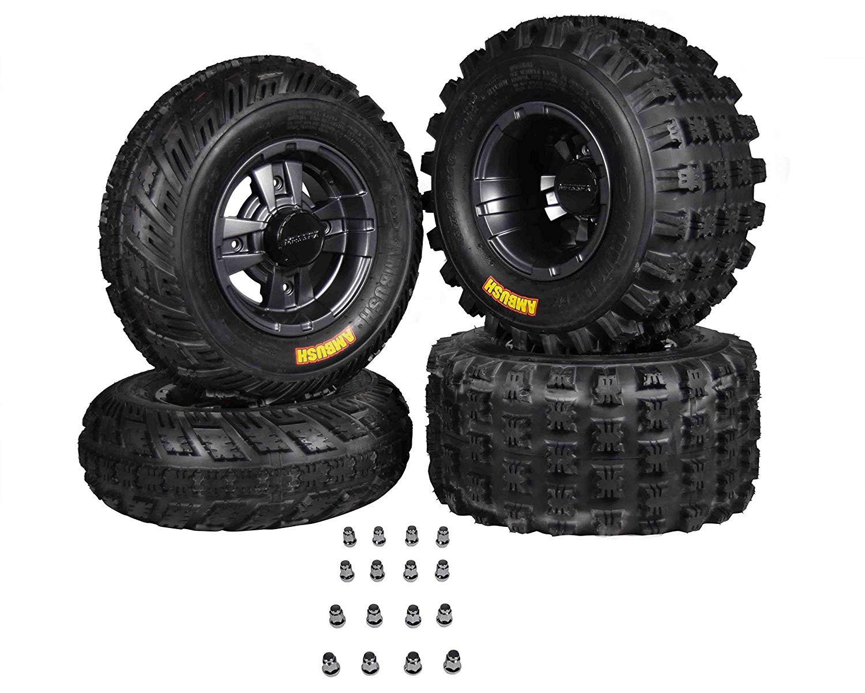 Get Quotations Ambush 21x7 10 20x10 9 Tires W Mfx Gunmetal Rims 10x5 4 144