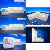 3d Rendering Jewellery Shop Design For Wood Jewelry Display ...