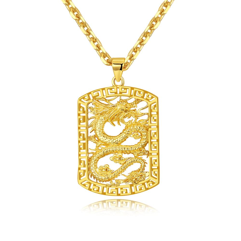 Taimei Factory direct plating 18K gold pendant overbearing atmosphere boss hang tag necklace фото
