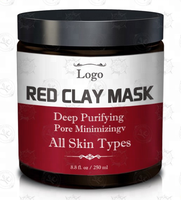 Hot Sale 250ML Moisturizer Nourishing Facial Honey Red Mud Clay Face Mask