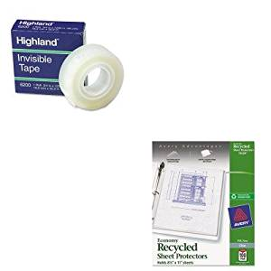 KITAVE75539MMM6200341296 - Value Kit - Avery Top-Load Recycled Polypropylene Sheet Protector (AVE75539) and Highland Invisible Permanent Mending Tape (MMM6200341296)