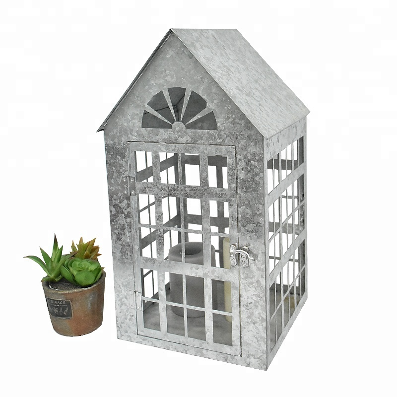 galvanized metal house lantern - 800×800