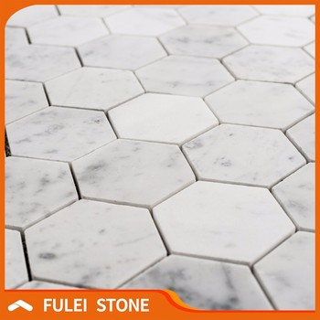 Price Bianco Carrara Marble White Hexagon Mosaic Floor Tile