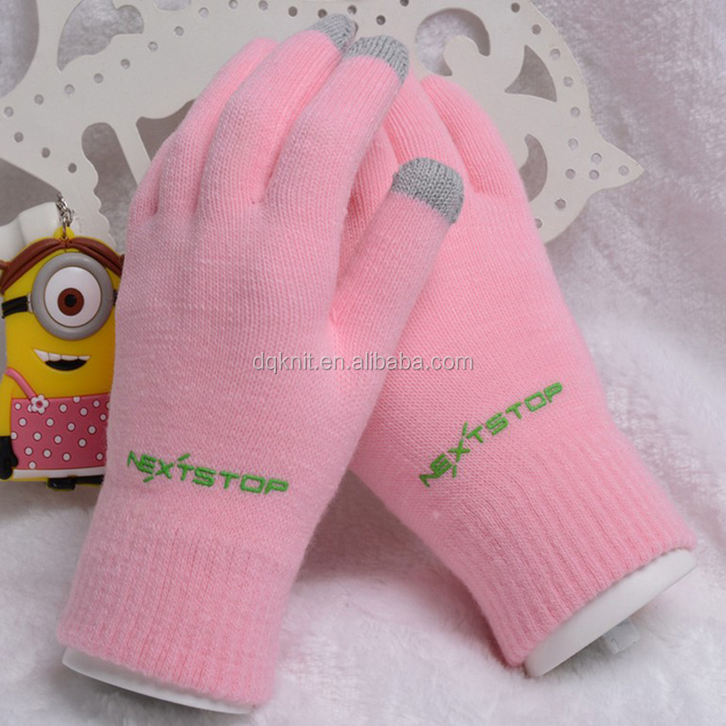 2017 Magic Gloves factory wholesale PVC printing smartphone gloves winter gloves