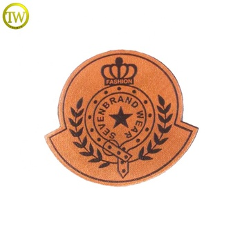 Custom Embossed Logo clothing Leather label patches For Men Jackets tag