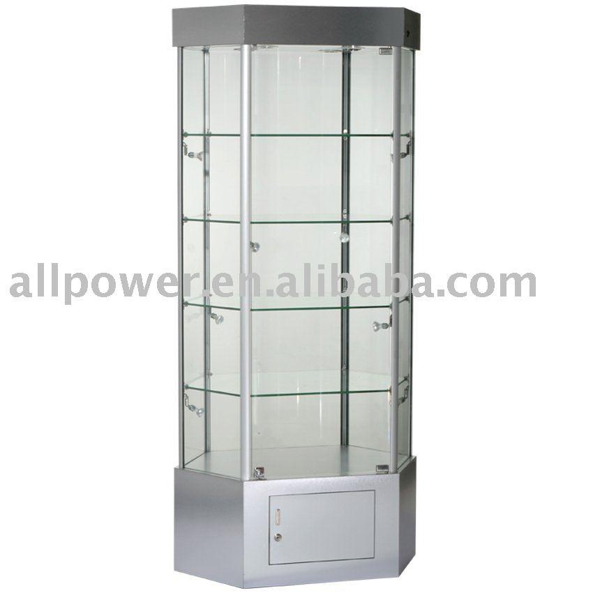 Torre independiente display vitrinas melamina cara board - Vitrinas de cristal para colecciones ...