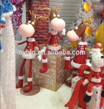 christmas garden decoration life size deer statues for christmas party