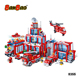BanBao 8355 Fire Station with Car Ship Plane Truck Educational Plastic Building Blocks Boy Kids Toys Compatible Legos ABS Bricks