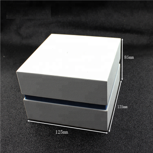 Luxury custom white Pu leather handmade logo watch box Guangdong