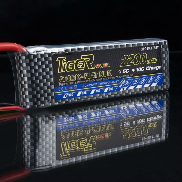 Tiger Lipo battery 7.4V 2200M 30C lipo batery Tiger for electric car and monster truck