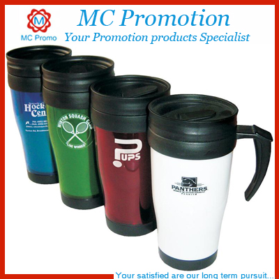 Wholesale Double Wall Plastic Coffee Travel Thermos Mug