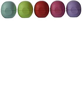 Eos Organic Smooth Sphere Lip Balm Summer Fruit, Sweet Mint, Strawberry Sorbet, Passion Fruit, Honeydew (5 Pack)