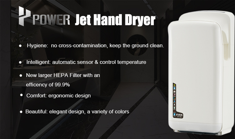 POWER electric no battery operated hand dryer 2000w for public bathroom with rohs ce