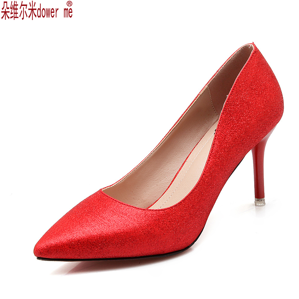 Hot sale New Sexy Pointed Toe Sweet Colorful Thin High Heels Hot Sale Woman Shoes ...
