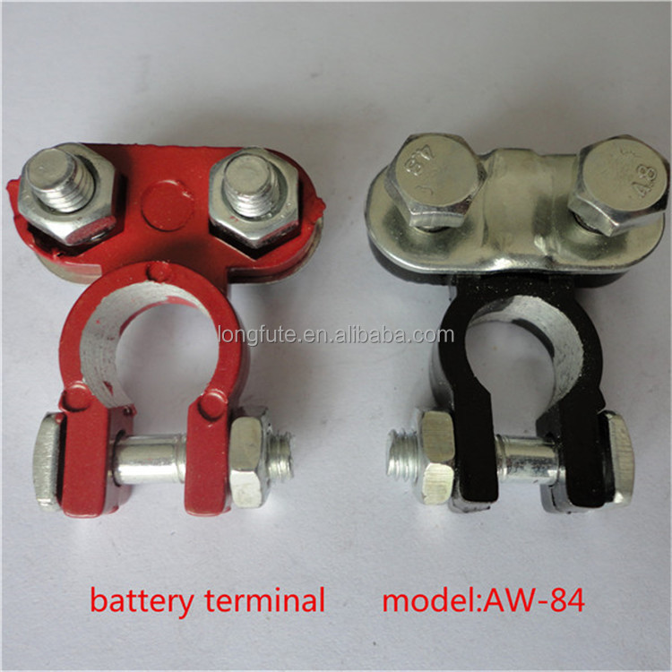 2 Color Coded Post Battery Terminals Red Positive Black Negative For