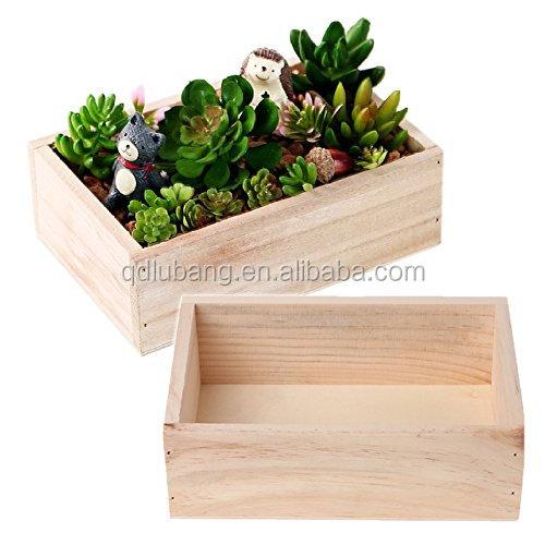 Wooden Succulent Plants Pot Holder Garden Flowers Pot And Planters
