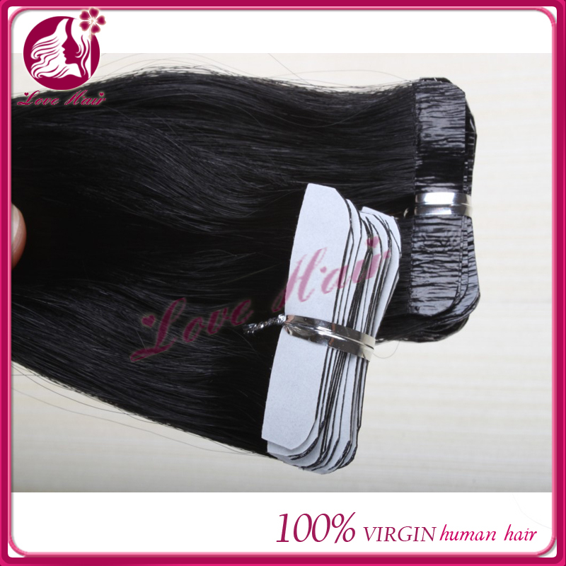 Straight Skin Weft Hair Extensions Tape In Human Hair Extensions Remy Hair For <strong>Black</strong> and White Women