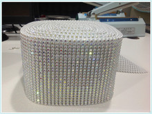 Hot fix crystal bridal belts for wedding applique with white base black base.18 rows,24rows