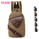 Nice Design Sling Chest Backpack Canvas Leather Girl Crossbody Bag For Unisex
