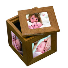 Wholesale Wooden Cube Multi Aperture Picture Photo Frame