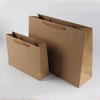 China manufacturer wholesale luxury custom printed gift packaging storage brown kraft shopping paper bags