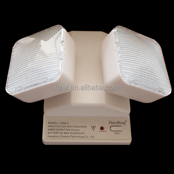 3 Hours Autonomy Rechargeable Two-head Led Emergency Light