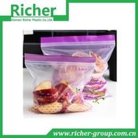 China food grade plastic packaging food vacuum zipper bag